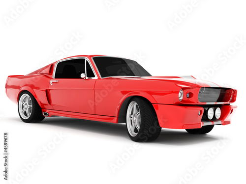 Poster Red Classical Sports Car