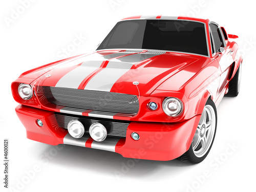 Red Classical Sports Car