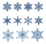 Vector snowflakes / Ideally for your use poster