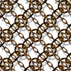 Copper chain link