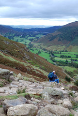 Enjoying the view in the Lake District
