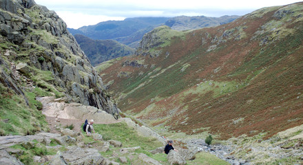 Hillwalkers in the Lake District