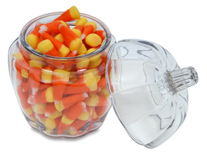 opened outlined, candy corn