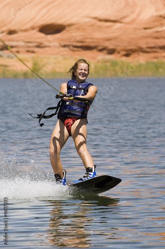 Girl Wakeboarding at Lake Powell - 4607035