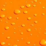 water drops on orange metal background