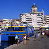 Ferry in Saint Raphael Harbour. South of France