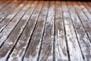 Texture of old wooden door - depth of field