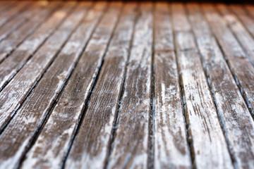 Texture of old wooden door - depth of field