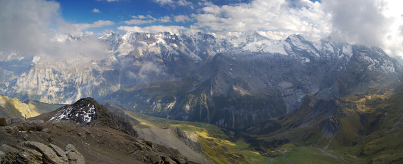 Panorama from Schilthorn (Piz Gloria)