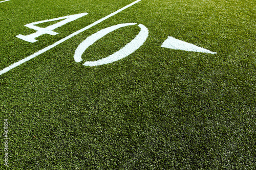 Football Field 40 Yard Line