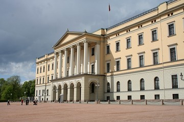 The facade of the Royal Norwegian Castle, Oslo
