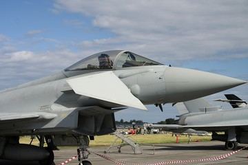Cockpit view of Eurofighter