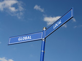 Global and local signpost poster