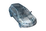 Fototapety car wire
