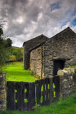 Stone built barn poster