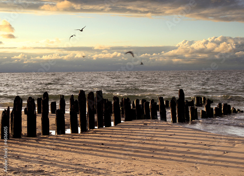 canvas print picture Evening on Baltic sea