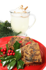 Slices of Christmas Fruitcake