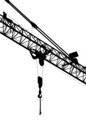 vector illustration construction silhouette construction crane
