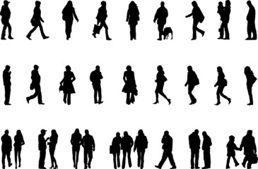 vector silhuettes of people