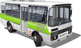 urban/suburban passenger mini-bus poster