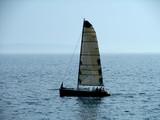 sailing on calm sea poster