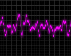 Electromagnetic frequency display in purple