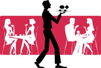 Waiter at coffee