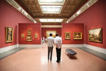 people in the art museum