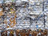 papier et carton aà recycler poster