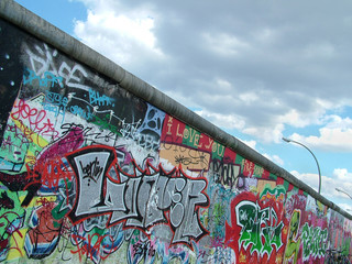 Colourful Berlin Wall