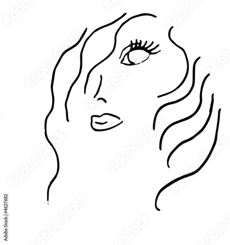 Beauty Salon Line Art Logo Illustration