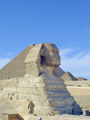 Famous Sphinx by the pyramids