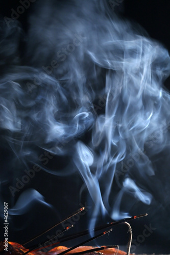 Aroma smoke on a dark background