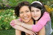 daughter embrace mother