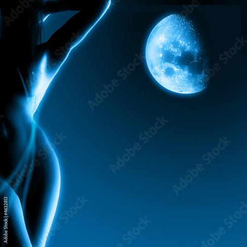 The Woman in the moonlight (3D model)