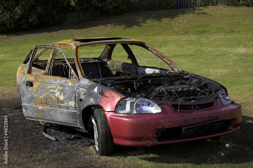 Fire Damaged Car
