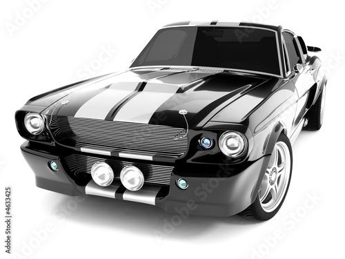 Black Classical Sports Car - 4633425