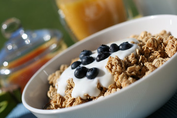 Granola with Yogurt and Berries Breakfast