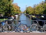 Fototapety Amsterdam Canal & Bicycles