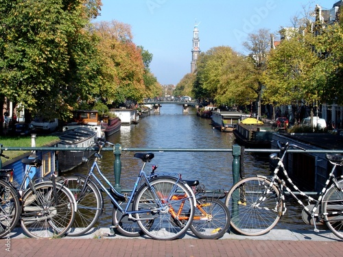 Poster Amsterdam Canal & Bicycles