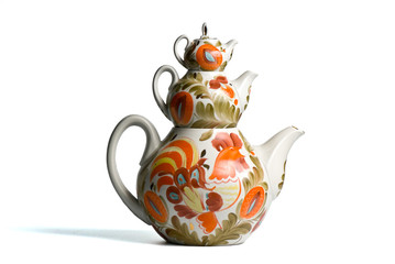 Three china teapots