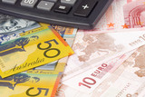 Australia and Euro currency pair commonly used in forex trading poster