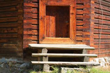 Small door for retaining the heat in winter