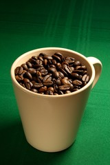 cup and coffee beans