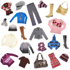 Lady's clothes. Winter clothes