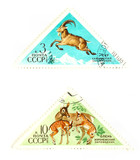 Vintage wildlife stamps poster