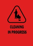 Cleaning in progress poster
