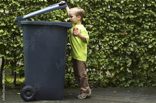 Boy Trashing A Can - 4646070