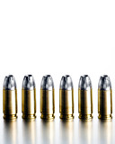 bullets 9mm high contrast poster