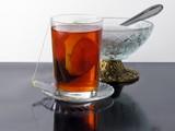 glass of tea and sugar basin poster
